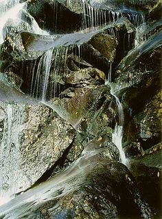 Ramsey Cascade, Close View, Great Smoky Mountains National Park, Tennessee, October 14, 1967   Eliot Porter