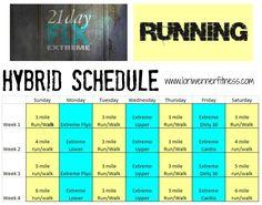 hybrid running P90X3 | Beachbody – Hybrid Workout Schedules