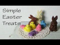Easy/Simple Peeps & Chocolate Bunny Polymer Clay Tutorial - YouTube