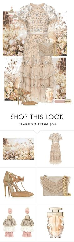 """Lace dress"" by sherrie-mock ❤ liked on Polyvore featuring Graham & Brown, Needle & Thread, Olgana, Cynthia Rowley, Oscar de la Renta, Cartier and Smith & Cult"