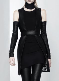 Gareth Pugh Spring 2011. How badass would this look with tattoo sleeves?!?!