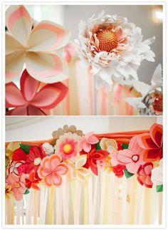 Flores de papel pra misturar as reais