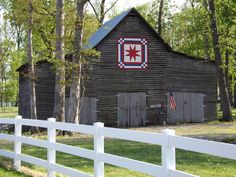 "From: ""Barn Quilts and the American Quilt Trail"" on Facebook.  the Penner Barn in Callaway County, KY."