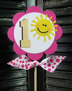 You Are My Sunshine Cake Topper  Centerpiece  by thepolkadotposy