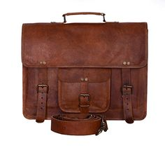 Komals Passion Leather Vintage 15 Inch Laptop Messenger Bag briefcase Satchel for Men and Women * Learn more by visiting the image link.