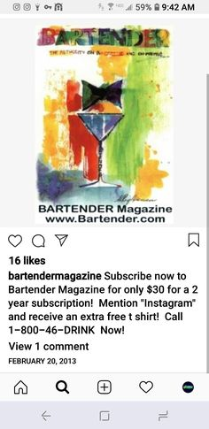 Bartender Magazine This Source Has The Goods Not The Gimmicks From Other So Ed Trade Magazine