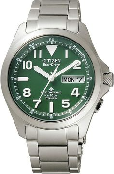 Citizen Promaster PMD56-2951 LAND Eco-Drive Solar   Green Dial Cool Watches, Watches For Men, Atomic Time, Japanese Domestic Market, Affordable Watches, Citizen Eco, Buy Now, Men Watch, Best Deals