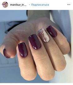 popular fall nail colors for now 15 ~ my.me popular fall nail colors for now 15 ~ my. Plum Nails, Purple Acrylic Nails, Burgundy Nails, Dark Purple Nails, Maroon Nails, Purple Nail Polish, Rose Gold Nails, Gel Polish, Casual Nails