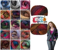 King-Cole-Riot-DK-double-knit-multi-coloured-acrylic-knitting-wool-yarn-100g ...