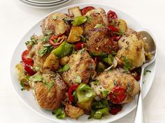 Broiled Chicken With Peppers from #FNMag