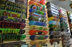 Ocean Beach Surf and Skate has a HUGE selection of skateboard decks to choose from.  Stop by for all your holiday shopping needs!