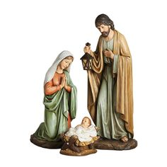 """A gorgeous Catholic statue set of the Holy Family, Jesus, Mary and Joseph for outdoor. 27"""" scale set of 3 figures."""