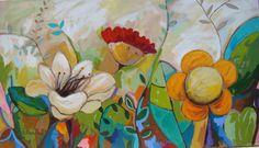 Esta tela, pintei recentemente para uma cliente da decoradora Alcione Cobra, de São Paulo. Ela mede 80 x 140 cm e a técnica utilizada foi acrílico sobre tela painel.