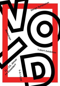VOID, Art Symposium, Poster, Graphic Illustration.