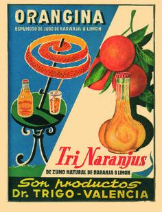 El mítico estudio de animación Estudios Moro desplegó toda su gracia y estilo con diverso material publicitario relativo a zumos y refrescos.