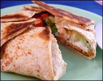 healthy version of Crunch Wrap Supreme, 210 calories (and low-fat, low-carb, high protein, rich with fiber)