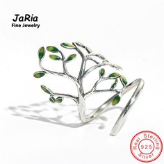 JaRia Fine Jewelry Newest Handmade Sterling Silver 925 Jewelry Tree Shaped Wraped Ring Trendy Design