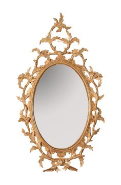 George III Chippendale Oval Mirror  #custommirrors #antiquereproductions #interiordesign #antiques Custom Mirrors, Oval Mirror, Antique Furniture, Vintage Inspired, English, Antiques, Frames, Inspiration, Classic