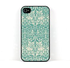William Morris Brother Rabbit, Teal,  iPhone 4 4S Case. $20.00, via Etsy.