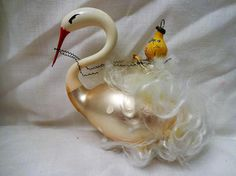 Hey, I found this really awesome Etsy listing at https://www.etsy.com/listing/553419769/christmas-ornament-vintage-glass-swan
