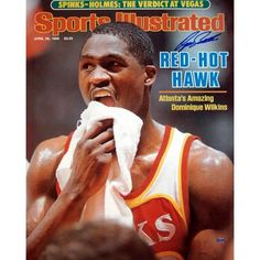 This Steiner Sports official 16 x 20-inch replica Sports Illustrated cover photograph from the April 28, 1986 issue has been signed by basketball legend Dominique Wilkins. Perfect for any sports colle