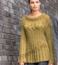 (El patrón y el esquema de la labor de punto) Crochet Skirts, Knit Crochet, Models, Cable Knit, Knitwear, Knitting Patterns, Fashion Dresses, Sweaters, Clothes