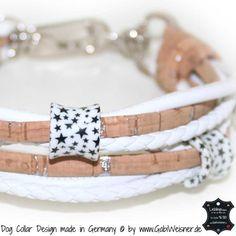 Mini-Hundehalsband Leder und Kork
