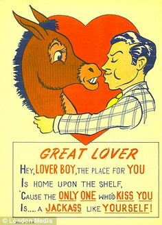 """""""Vinegar Valentines""""...cards from the 1900s that people used to tell their suitors """"No!"""""""