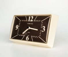 Retro Wall Clock / Bright Beige-Grey Clock / 70's Yugoslavia