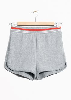 & Other Stories image 1 of Jersey Shorts in Grey