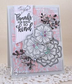Handmade card by Maureen Plut using the Kindness Matters stamp set from Verve. #vervestamps #kindness