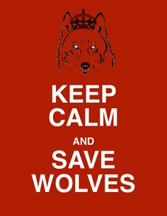 Keep Calm and Save Wolves