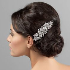 This large crystal hair comb is a statement hair accessory - perfect for special occasions, brides and bridesmaids