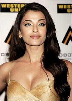 Aishwarya Rai~ Light skin and light eyes are very favored in the culture of India.