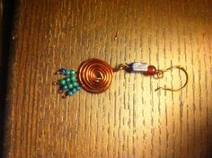 Copper wire with beads