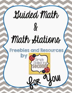 Simply Skilled in Second Guided Math Resources freebie