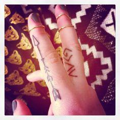 Popular Art Of Arrow Tattoo On Finger
