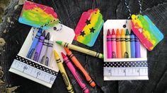 Back To School Crayon Tag Favor