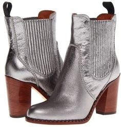 Marc by Marc Jacobs Metallic Chelsea Boot (Silver)