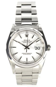 Rolex - Datejust I want that! Army Watches, Rolex Watches, Wrist Watches, Vintage Rolex, Vintage Watches, Vintage Men, Stylish Watches, Luxury Watches, Cool Watches For Women