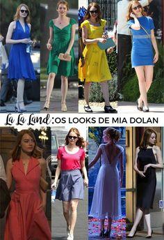 Os looks de Emma Stone no filme La La Land - Fashionismo