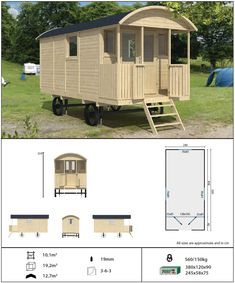 Shepherd hut and gypsy caravan from Tuin, a substantial and impressive garden building Gypsy Living, Tiny House Living, Caravan Van, Diy Camper Trailer, Rv Campers, Gypsy Trailer, Shepherds Hut, Gypsy Wagon, Garden Buildings