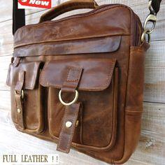 Genuine Leather Shoulder Satchel Bag Vintage « Clothing Impulse