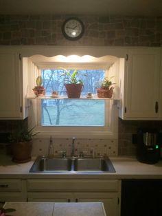 Kitchen Window Shelf   A Prettier Version To Hold Cookbooks