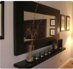 Interior Decorating Tips With Wall Mirrors – Wall Mirror Decor Hallway Decorating, Entryway Decor, Entryway Ideas, Apartment Living, Living Room Decor, Living Rooms, Decor Room, Diy Home Decor, Decor Crafts