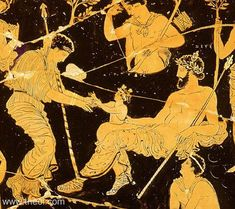 Birth of Dionysus from the thigh of Zeus | Greek vase, Apulian red figure volute krater