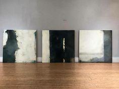 Sam Lock paintings. #samlock #abstract #instaart #southkensington #mixedmedia #contemporaryart