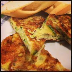 Tortilla de calabacín sabroso (baja en calorías) - La dieta ALEA