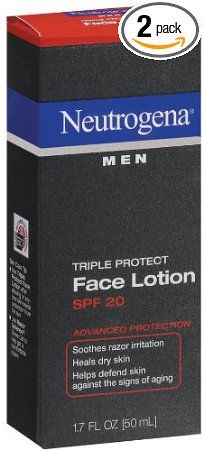 MEN'S TRIPLE FACE PROTECTION - YOUR LOOKS LAST LONGER WITH A LITTLE CARE: Neutrogena Triple Protect Face Lotion for Men, SPF 20, 1.7 Ounce (Pack of 2): Beauty