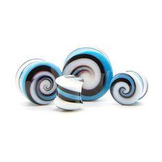 Spiral Glass Plug   UK Custom Plugs - Ear Gauges, Flesh Tunnels for Stretched Ears